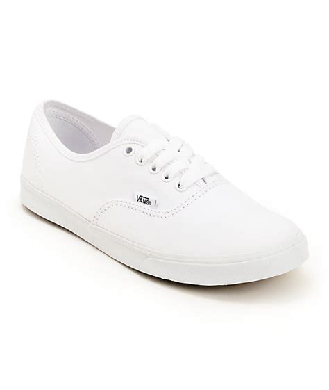 vans authentic lo pro white shoes womens at zumiez pdp
