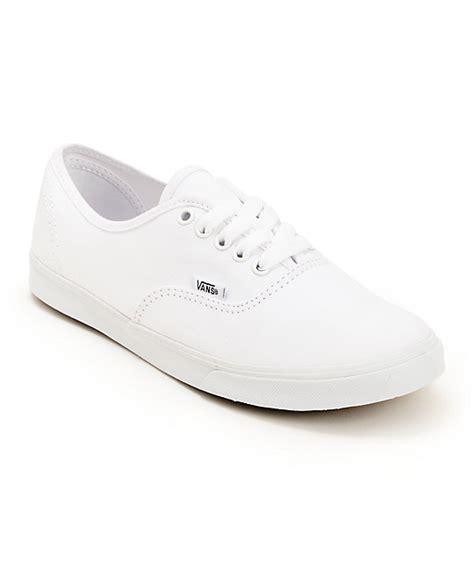 white shoes vans authentic lo pro white shoes