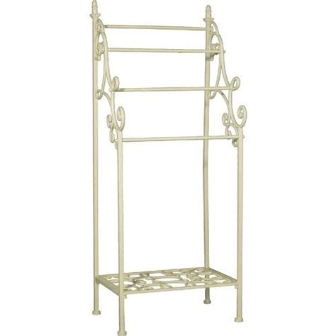 163 57 shabby chic metal towel rail white gift list