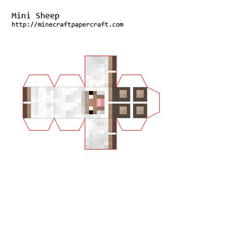 Minecraft Sheep Papercraft - minecraft papercraft mini animals www pixshark