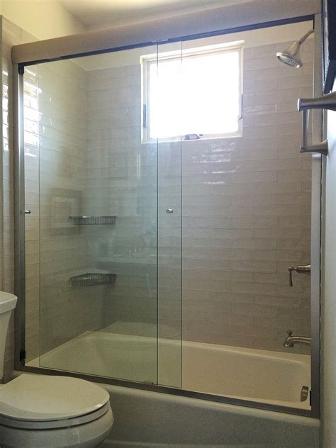 Frameless Sliding Shower Doors And Enclosures Semi Frameless Glass Shower Doors