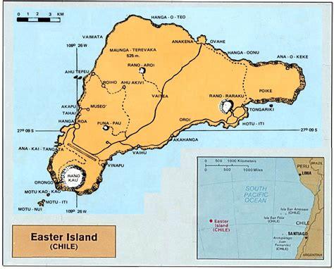 easter island map easter island rapanui