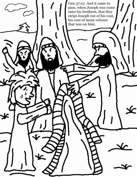 Joseph And The Coat Of Many Colors Coloring Page Free Coloring Pages Joseph Coat Many Colors