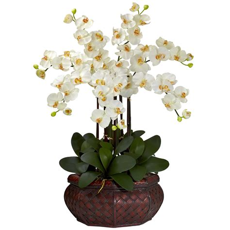 silk flower arrangements large phalaenopsis orchid silk flower arrangement 1201