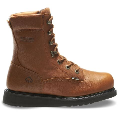 wolverine work boots wolverine mens hazard durashocks wedge heel 8in work