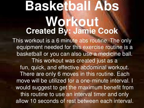 basketball abs workout