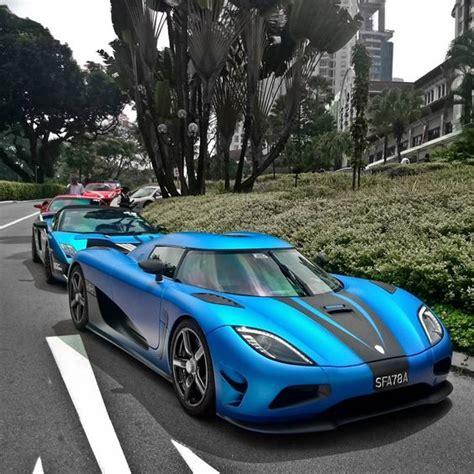koenigsegg wrapped matte royal electric blue koenigsegg agera s tags exotic