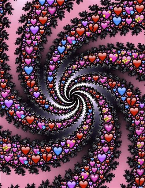 emoji hati hitam ilustrasi gratis emoji hati spiral fraktal gambar