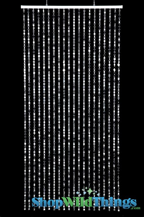 silver bead curtains shimmy beaded curtain 3 x 6 shopwildthings com