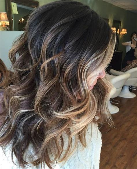fall highlights for brown hair perfectly blended brunette balayage hairstyles ideas for