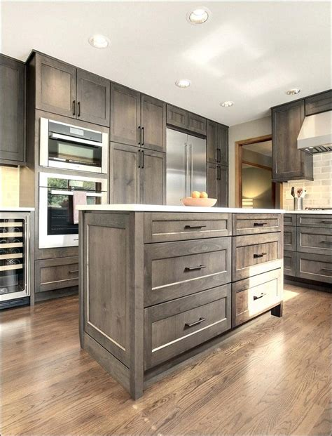 gray wood kitchen cabinets grey stained cabinets grey stained oak kitchen cabinets