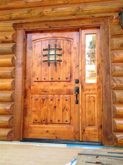 Log Home Front Doors New Home Construction Gallery 171 Alpine Blue Log Homes