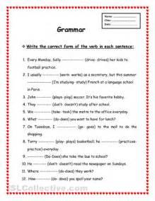 4 best images of free printable english grammar worksheets