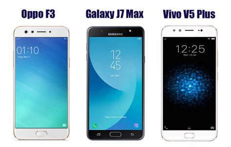 Handphone Samsung Galaxy Max oppo f3 vs samsung galaxy j7 max vs vivo v5 plus price in india specifications and features