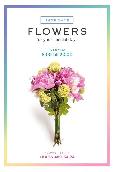 Flower Shop Flyer Template Free flower shop free flyer template best of flyers