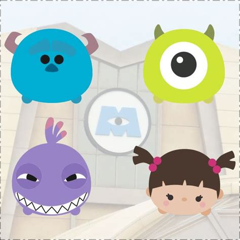 imagenes de monster inc kawaii krafty nook tsum tsum monsters inc fan art dibujos