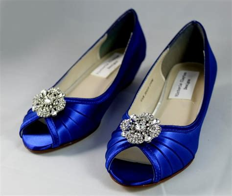 Blue Wedding Shoes For Low Heel by Royal Blue Wedding Shoes Wedge 1 Wedge Heels Low Heel