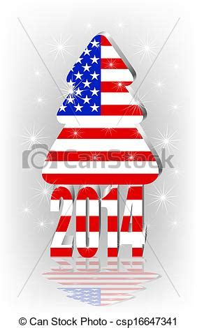 Christmas tree with the american flag. Free Clip Art Christmas Words