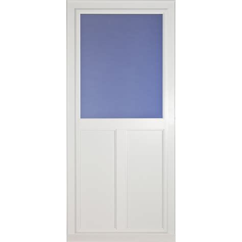 Aluminum Screen Door by Shop Larson Tradewinds Selection White High View Tempered
