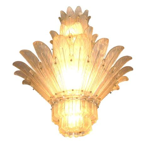 Feathers Ceiling by Tiered Glass Feather Ceiling Light By Sabino At 1stdibs