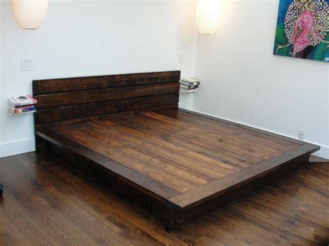 wood flat california king platform bed frame