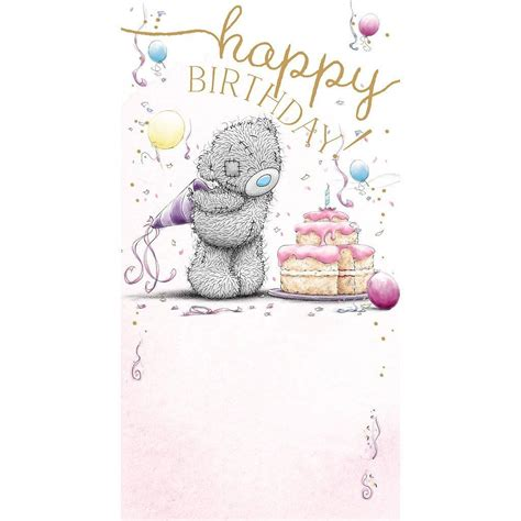 me to you happy birthday with cake bday card