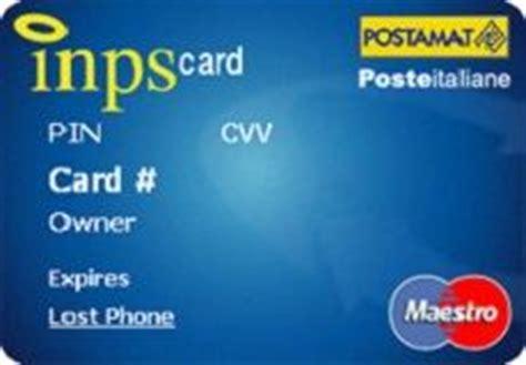 banco posta maestro carta pensione poste conviene inps card