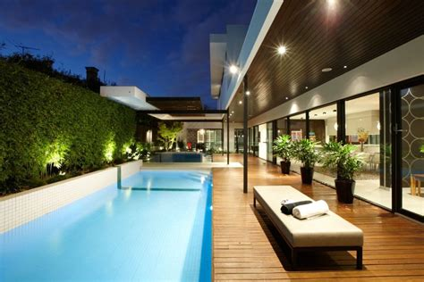 modern pool design stylish melbourne home dazzles with a lavish pool space