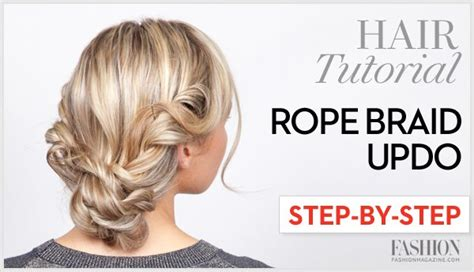 how to do the twist braid step by step rope braid tutorial learn how to do this twisted updo in