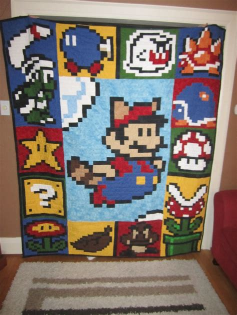 Mario Quilt by Mario 3 Quilt Raccoon Mario Awesome Nintendo Themed