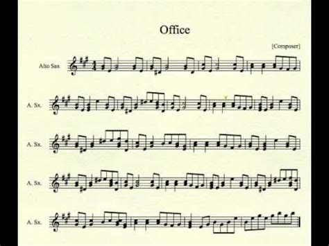 The Office Song by Office Theme For Alto Sax