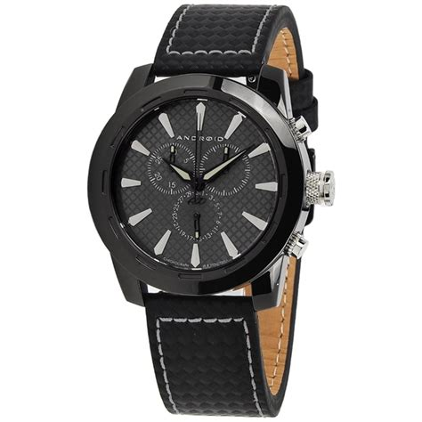 android watches for android s caprice ad654ak black leather quartz