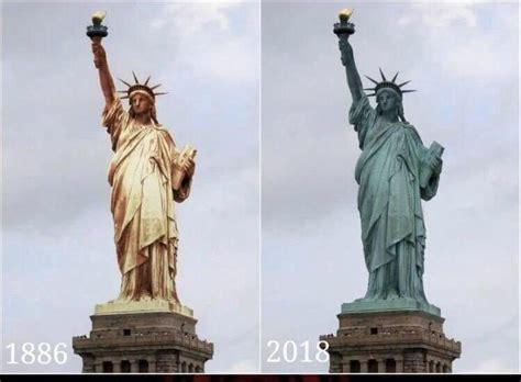 original color of the statue of liberty question could power washing return the status of liberty
