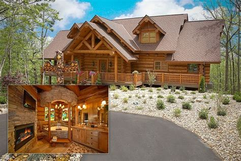 pretty log cabin wow