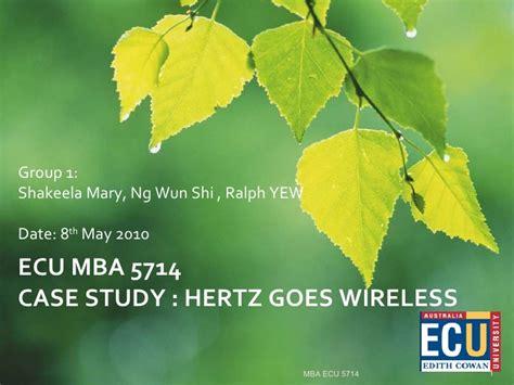 Ecu Mba Apply by Hertz Goes Wireless Presentation 8 May 2010