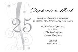 25th anniversary invitations templates anniversary invitation invitation templates