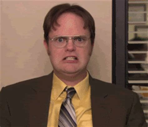 angry dwight reaction gifs