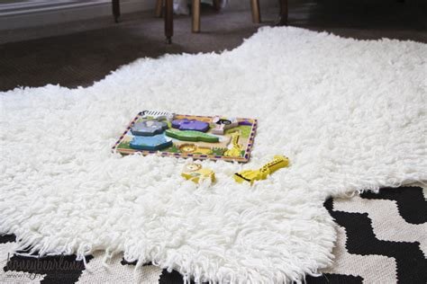 How To Make A Handmade Carpet - make a faux sheepskin rug honeybear