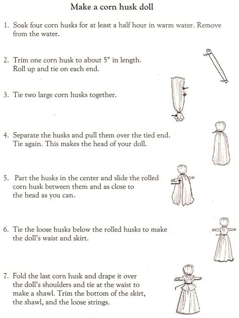 how to make a corn husk doll step by step harvest time corn husk dolls corn husk dolls dolls and