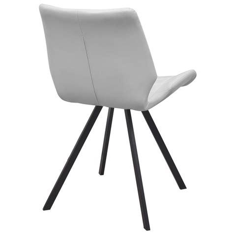 bianco sedie sedia da pranzo in similpelle 2 pezzi colore bianco