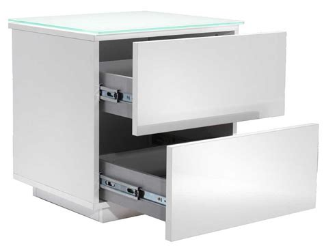 White Drawer Unit by Oslo High Gloss White Drawer Unit