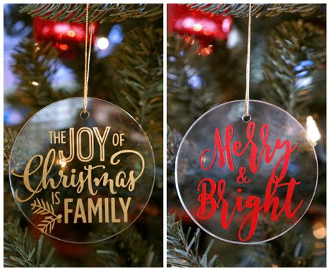 easy glass vinyl christmas ornaments happiness  homemade