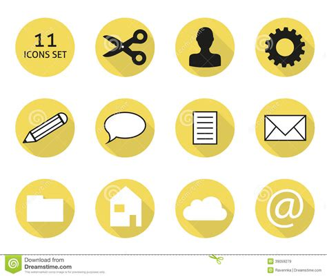 11 gallery icon flat images flat design icons free flat 11 flat icon set stock vector image 39059279