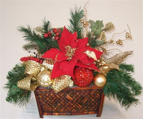 ana silk flowers ideas christmas centerpieces