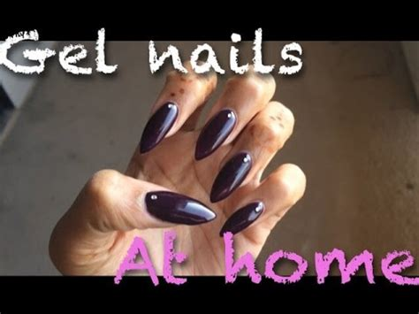 do your nails at home diy gel nail tutorial