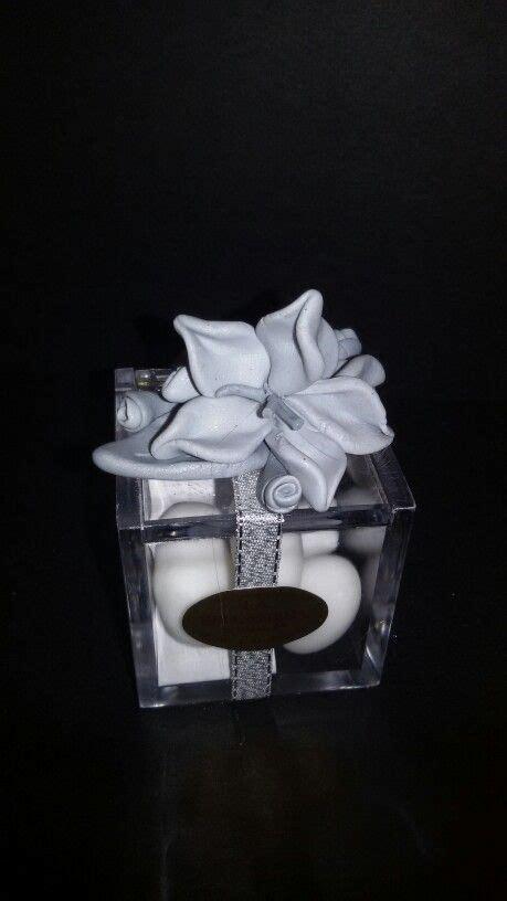 fiori nozze d argento bomboniera handmade in fimo con fiori per 25 anni di