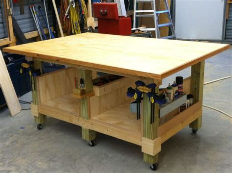 woodworking shop benches my 4 x 6 ft woodworking assembly table six legs from 4 x