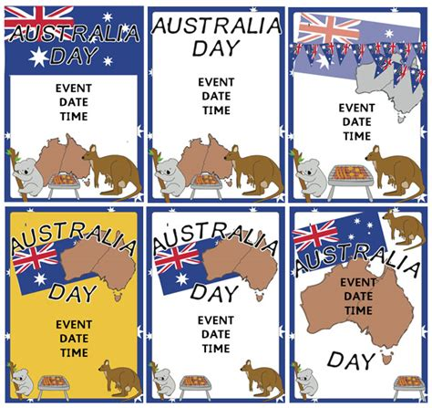 australia day event posters free early years amp primary