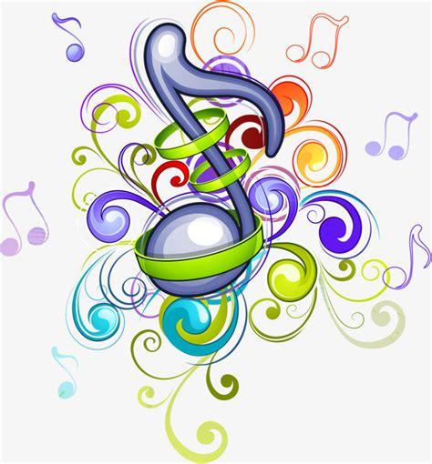 imagenes musicales animadas dibujado a mano nota material notas de dibujos animados
