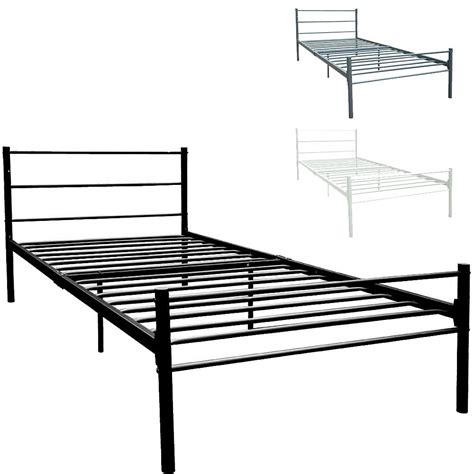 Black Metal Single Bed Frame Dorset Single Bed Frame Black Silver White Metal Steel Modern Stylish Comfy 163 42 95 Picclick Uk